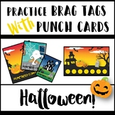 Practice Brag Tags with Punch Cards - Halloween Edition