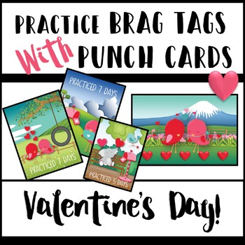 Practice Brag Tags with Punch Cards - Valentine's Day Edition