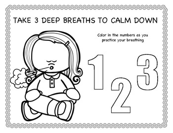 Practice Breathing Coloring Sheet and Poster