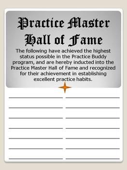 Practice Buddy Practice Incentive Program