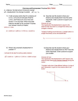 Basic Motion Worksheet Pack: Distance, Displacement, Speed, Velocity