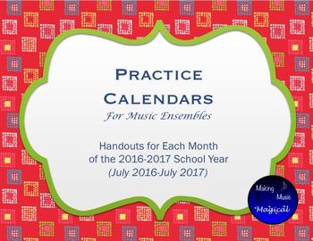Practice Calendars for Music Ensembles
