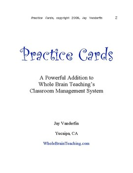 Practice Cards