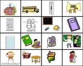 Spanish Vocabulary Cards- Flash Cards- The school / La escuela