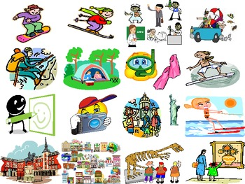 Spanish: Practice Cards/ Flash Cards- Pasatiempos/ Pastimes: Simulated Immersion
