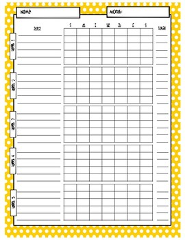 Music Practice Charts-Polka Dot Theme