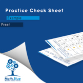 Practice Check Sheet Example