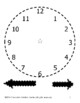 Practice Clock Printable (with additional Cutting and Tracing Practice) FREE