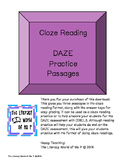 Pack 1 Practice Cloze Reading or DAZE Practice for Intermediate Students