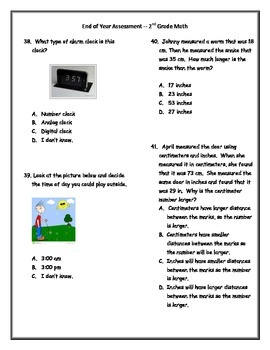 Practice / Coached version of Math End of the Year Assessment