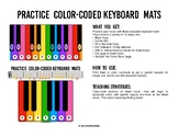 Practice Color Keyboard Mats -printable piano keyboard sheets for music learning