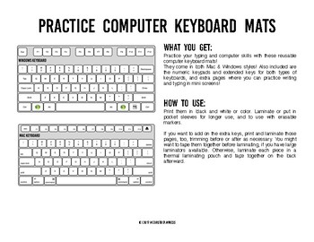 Practice Computer Keyboard Mats Printable Keyboard Sheets For Typing