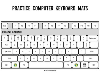 photo relating to Printable Computer Keyboard known as Educate Personal computer Keyboard Mats - printable keyboard sheets for typing