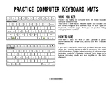 Practice Computer Keyboard Mats - printable keyboard sheet