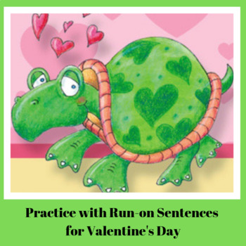 Correcting Run-on Sentences for Valentine's Day Writing Worksheets