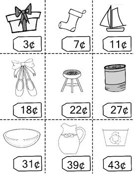 Practice Counting Coins Price Tags