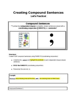 Practice Creating Compound Sentences!