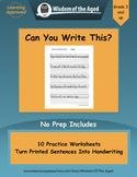 Cursive Writing Practice Sentences - Distance Learning