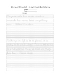 Practice Cursive with Historical Quotes
