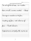 Practice Cursive with Literary Quotes