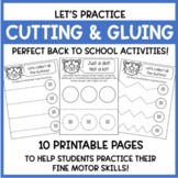 Pete the Cat - Cutting & Gluing Practice