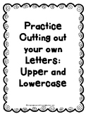 Practice Cutting out Letters and Pictures