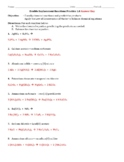 Practice - Double Replacement Reactions 1.0 Worksheet - Answer Key