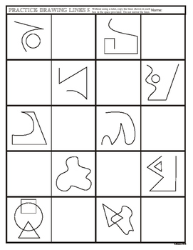 Practice Drawing Lines (and shapes) Art Exercise