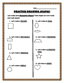 Practice Drawing Shapes-Geometric and Organic