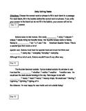 FSA ELA Test Daily Grammar Editing Tasks Practice Days 11-15.