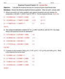 Practice - Empirical Formulas Practice 1.0 - Answer Key