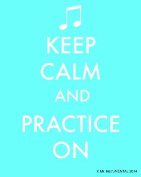 Practice Encouragement Poster - Keep Calm
