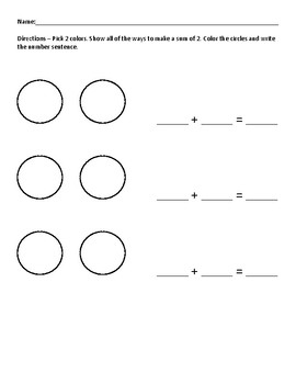 Practice Every Way to Make and Take Away from Numbers 2-8 Bundle