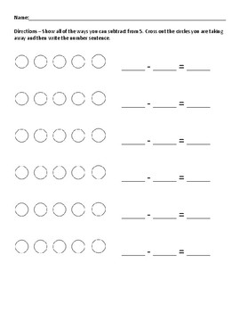 Practice Every Way to Subtract from 5 - Subtraction Problem Solving