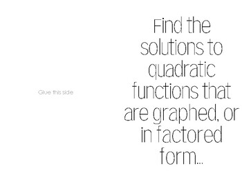 Practice Finding Quadratic Solutions from a Graph & Factored Form