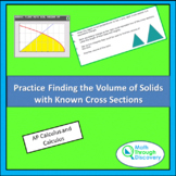 Practice Finding the Volume of Solids with Known Cross Sections