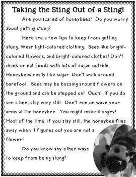Practice Fluency with Informational Text (Honeybee)