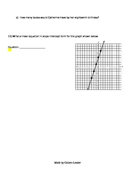 Practice Functions & Graphing Test