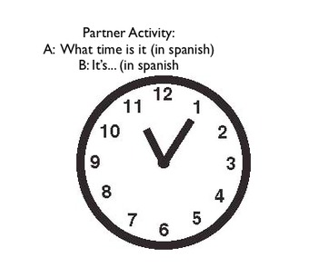 Practice Game for reviewing Telling Time and Conjugating Ser
