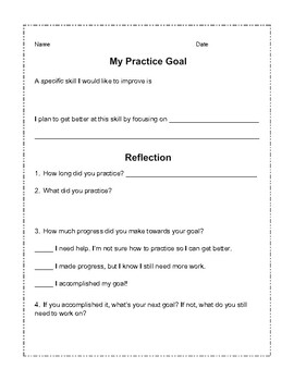 Practice Guide - Goals and Reflection