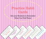 Practice Habit Cards