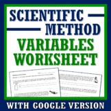 Practice Identifying Variables Scientific Method Worksheet or Homework