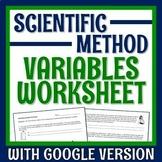 Practice Identifying Variables Scientific Method Worksheet or Homework