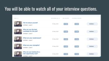 Practice Job Interviews - Students Can Record, Save and Share Interviews.