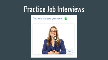 Practice Job Interviews - Students Can Record, Save and Sh