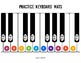 Practice Keyboard Mats - printable piano keyboard sheets for music learning