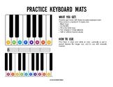 Practice Keyboard Mats - printable piano keyboard sheets f