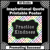 Practice Kindness Poster, Crayon Theme, Colorful Classroom Decor 8x10 16x20
