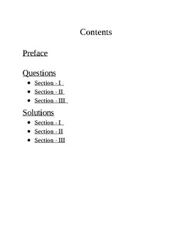 Practice Kit on Solving Algebraic Equations Part 1