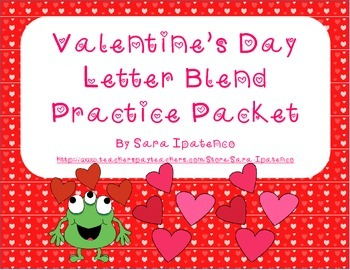 Practice Letter Blends Phonics Packet - Valentine's Day Theme